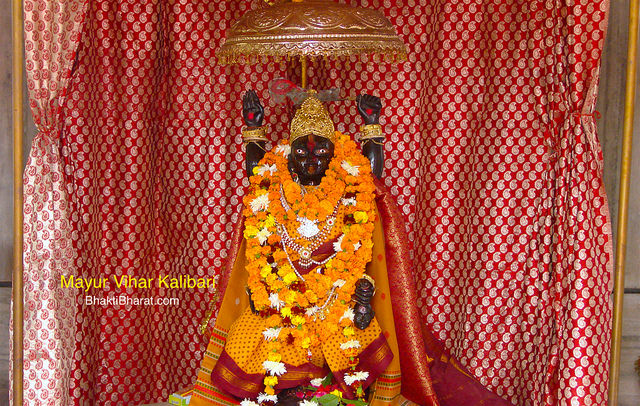 मयूर विहार कालीबाड़ी (Mayur Vihar Kalibari), the center of monthly amavasya Kaali Puja followed by 9:00 PM Bhandhara. Shri Ganesh Ji at the first entrance and the second one is blassed with Sankatmochan Shri Hanuman.